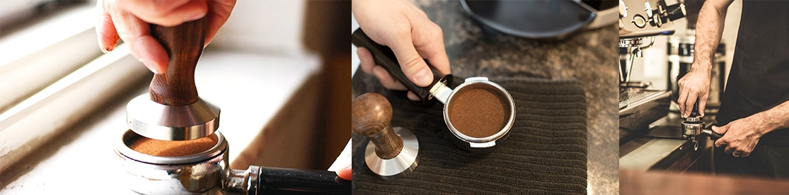caffe tamping